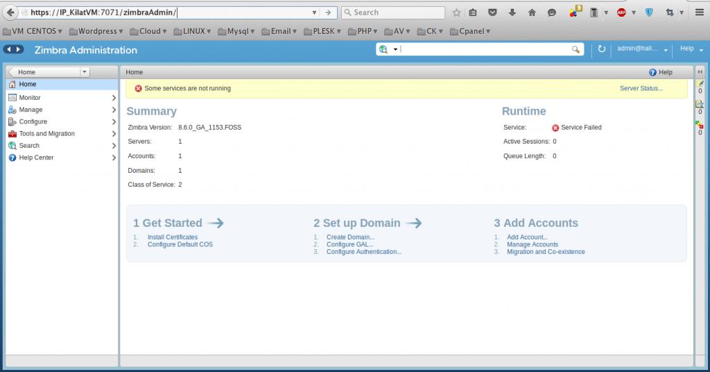 Cara Instalasi Zimbra Collaboration Suite Pada Kilat VM CentOS